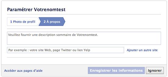 Comment créer une page facebook entreprise: A propos