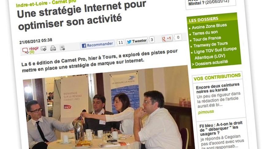 Article de la NR sur la conférence Carnet Pro sur les réseaux sociaux