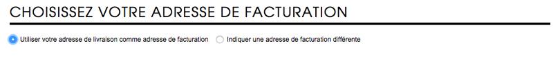 L'adresse de facturation - Sephora
