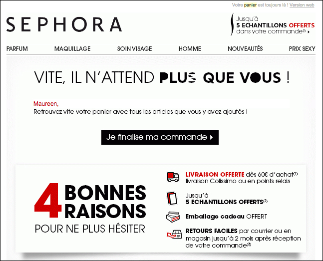 Mail relance site rencontre