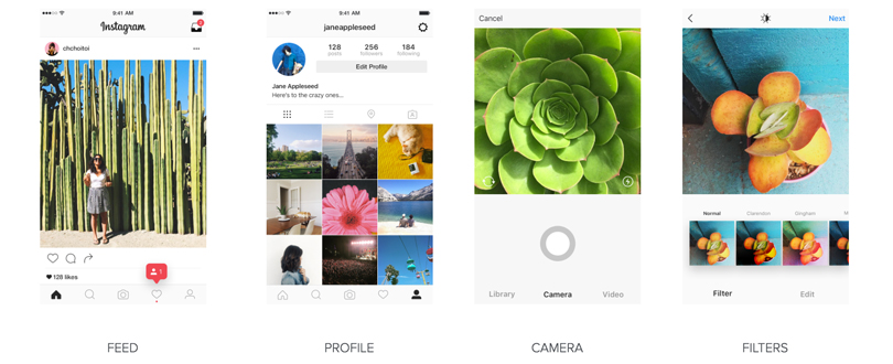 Nouvelle interface utilisateur Instagram