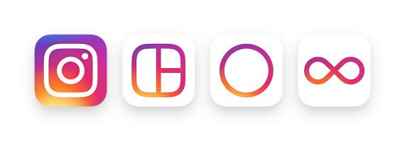 Logo Instagram, Layout, Boomerang et Hyperlapse