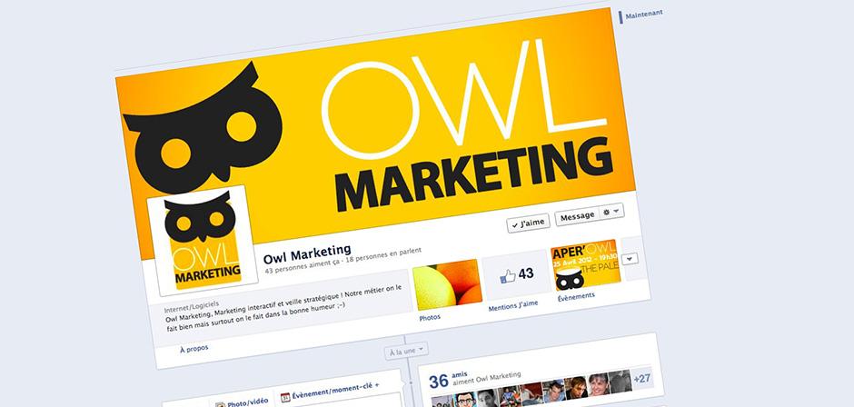 La page Facebook de Owl Marketing